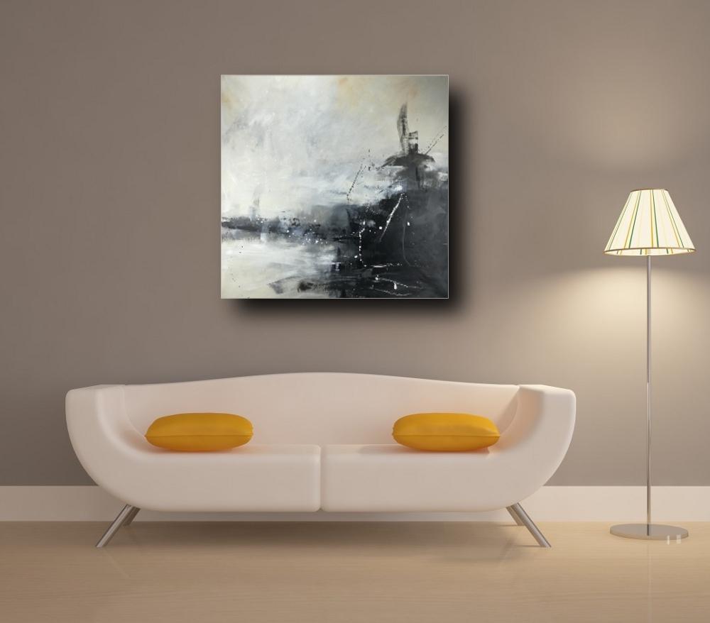 quadri soggiorno grandi 120x120 bianco e nero