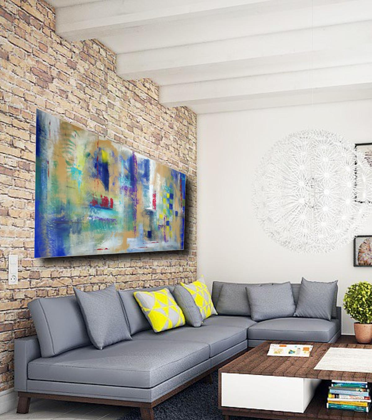 Quadri astratti su tela 150x80 sauro bos - Quadri x soggiorno ...