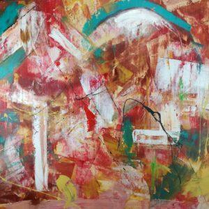100x802 300x300 - quadro astratto dipinto a mano su tela con cornice oro 120x70