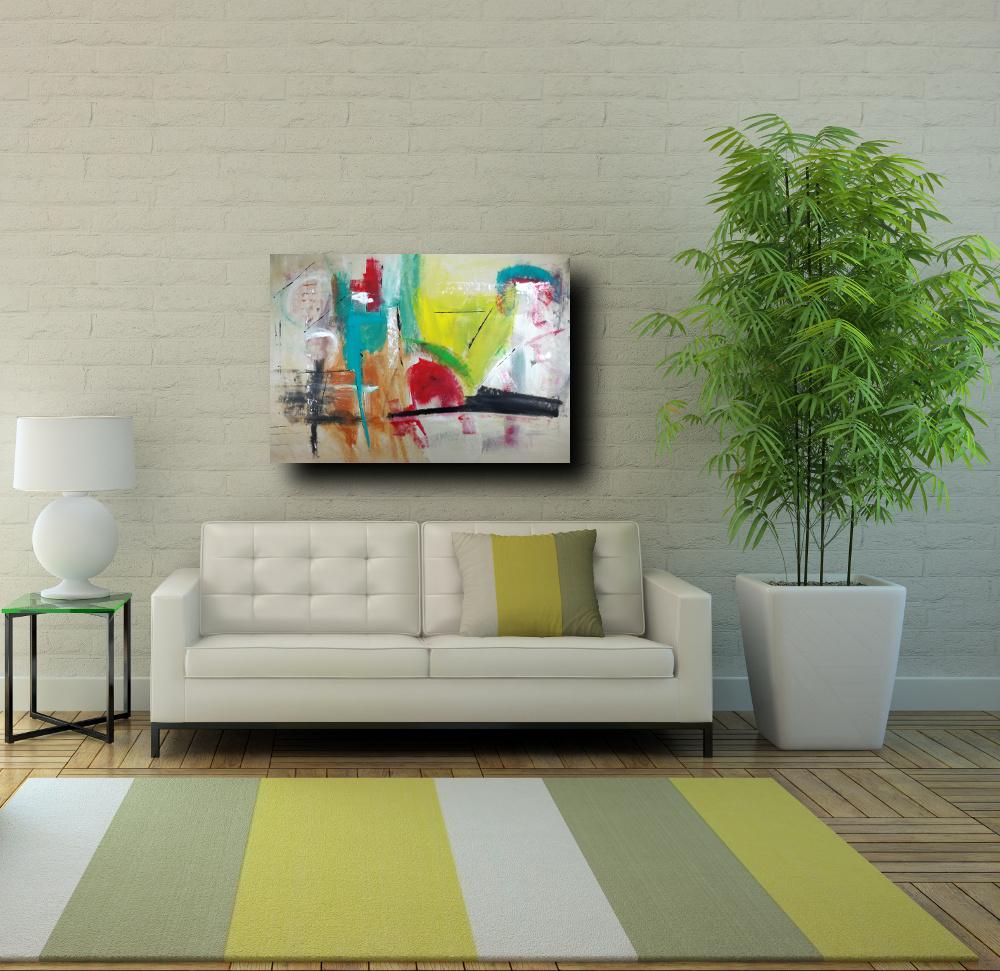dipinti astratti su tela moderni c239 - quadri moderni per salotto