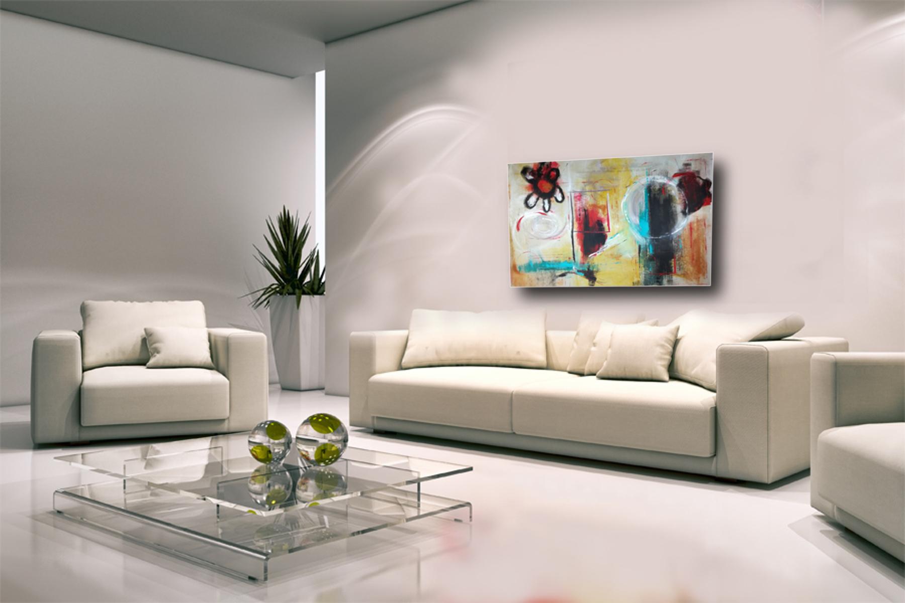 dipinto grande astratto su tela 120x80 per arredamento moderno ...