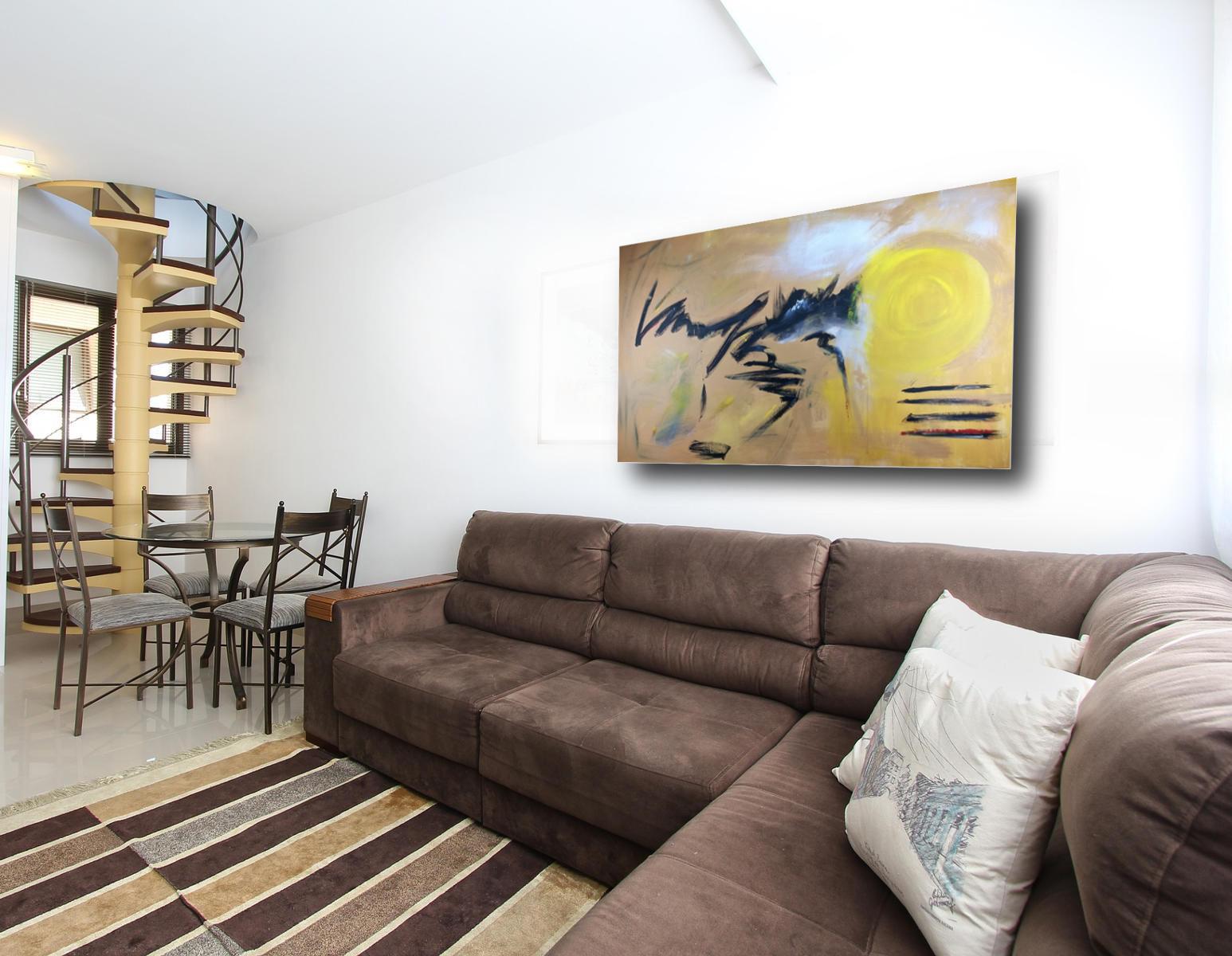 quadro grande astratto su tela 120x80 per arredamento moderno ...
