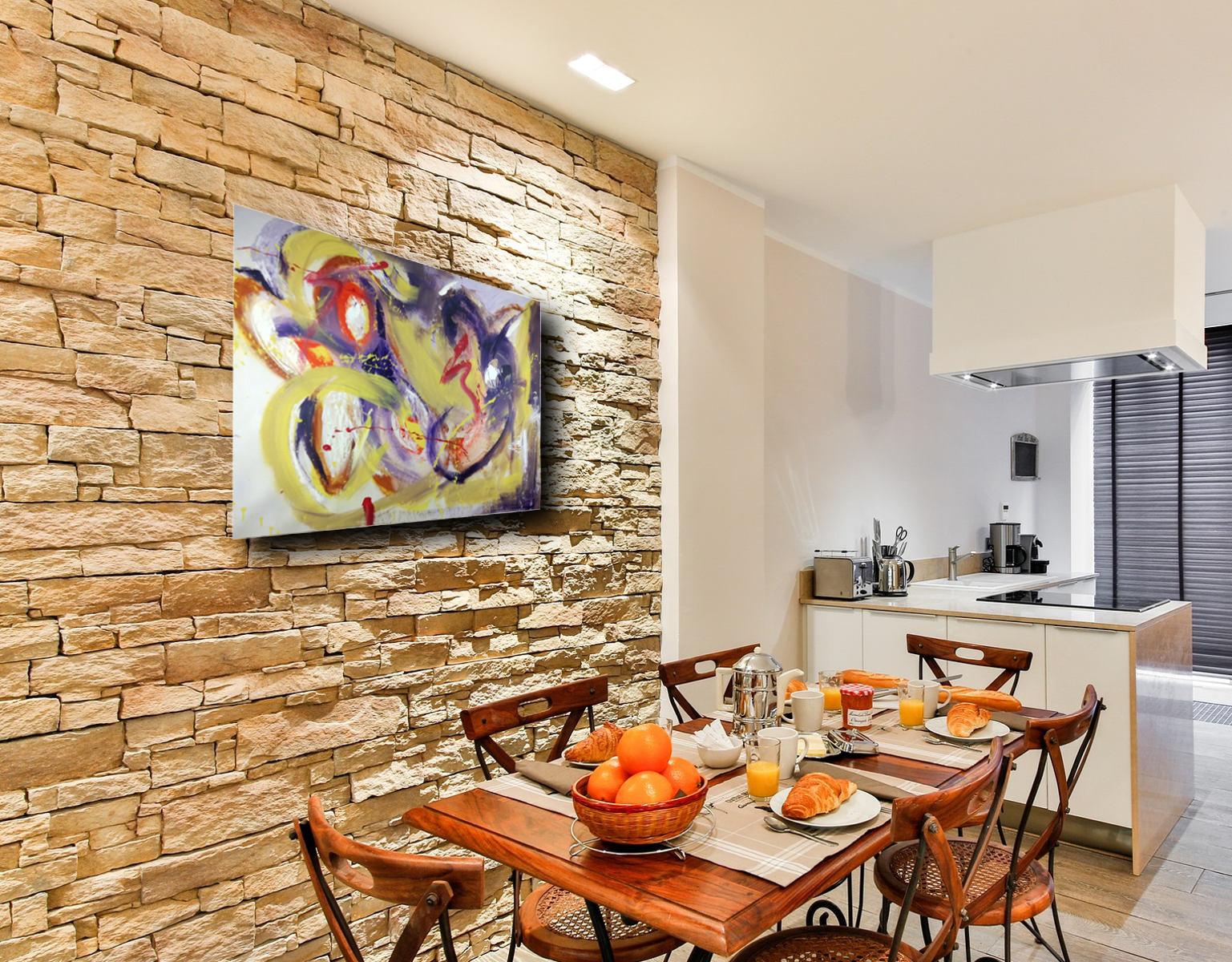 quadri astratti per soggiorno moderno su tela 100x80 | sauro bos