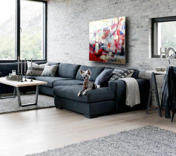 quadri astratti soggiorno c222 600x530 - dipinti moderni grandi su tela 120x120 rosso