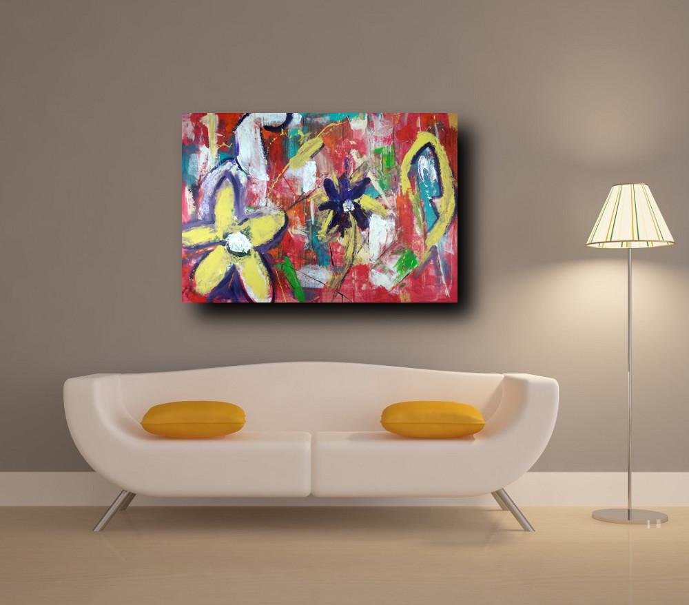 quadri astratti soggiorno c228 - quadri moderni per salotto