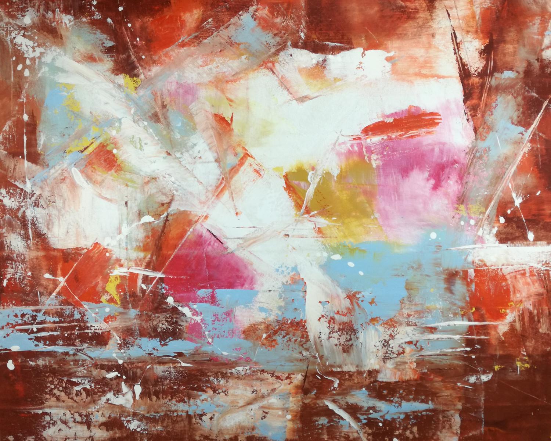 quadri astratti per soggiorno officio su tela 100x80 | sauro bos