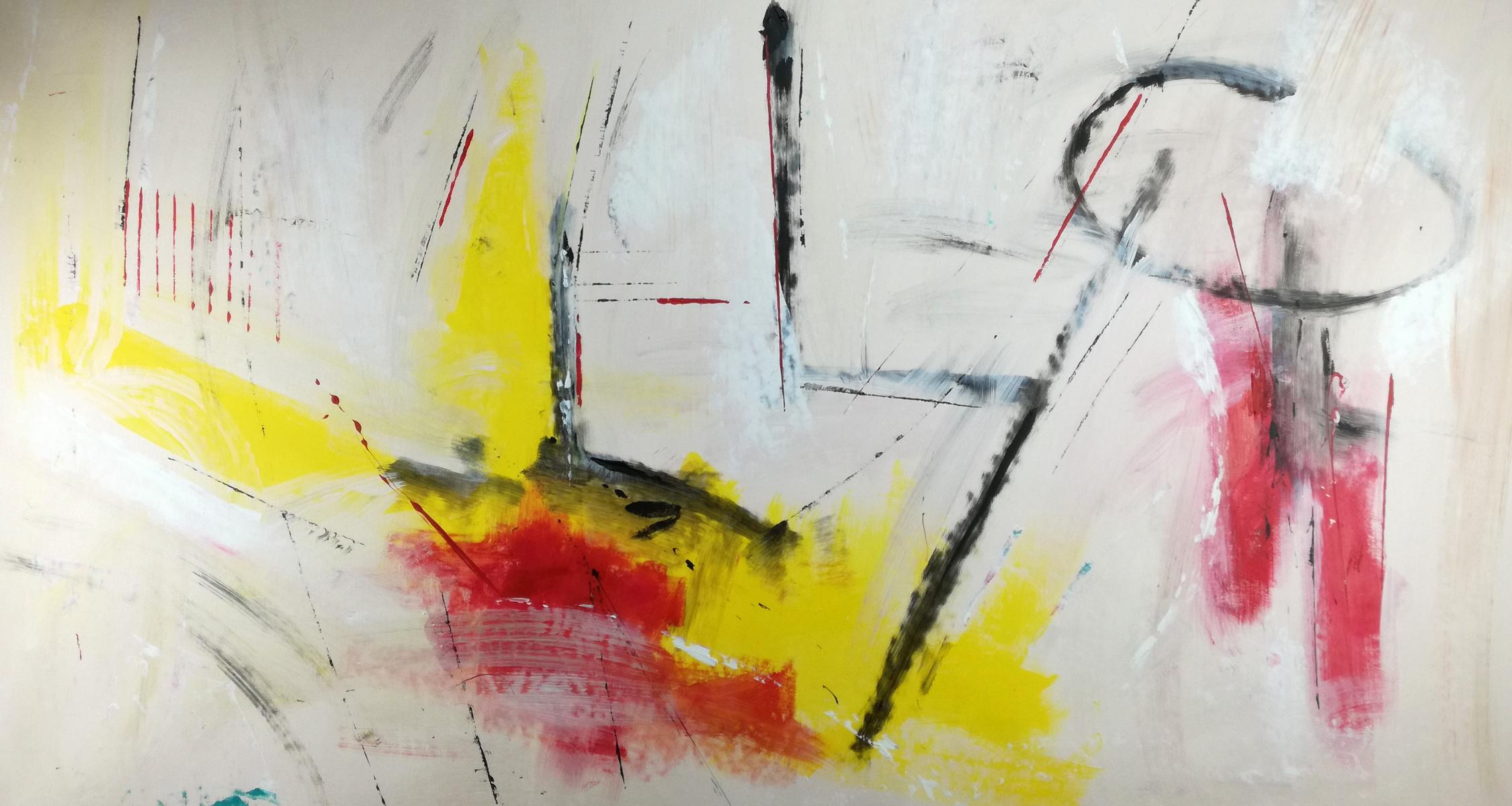 Quadri astratti su tela 150x80 giallo sauro bos for Quadri moderni astratti su tela