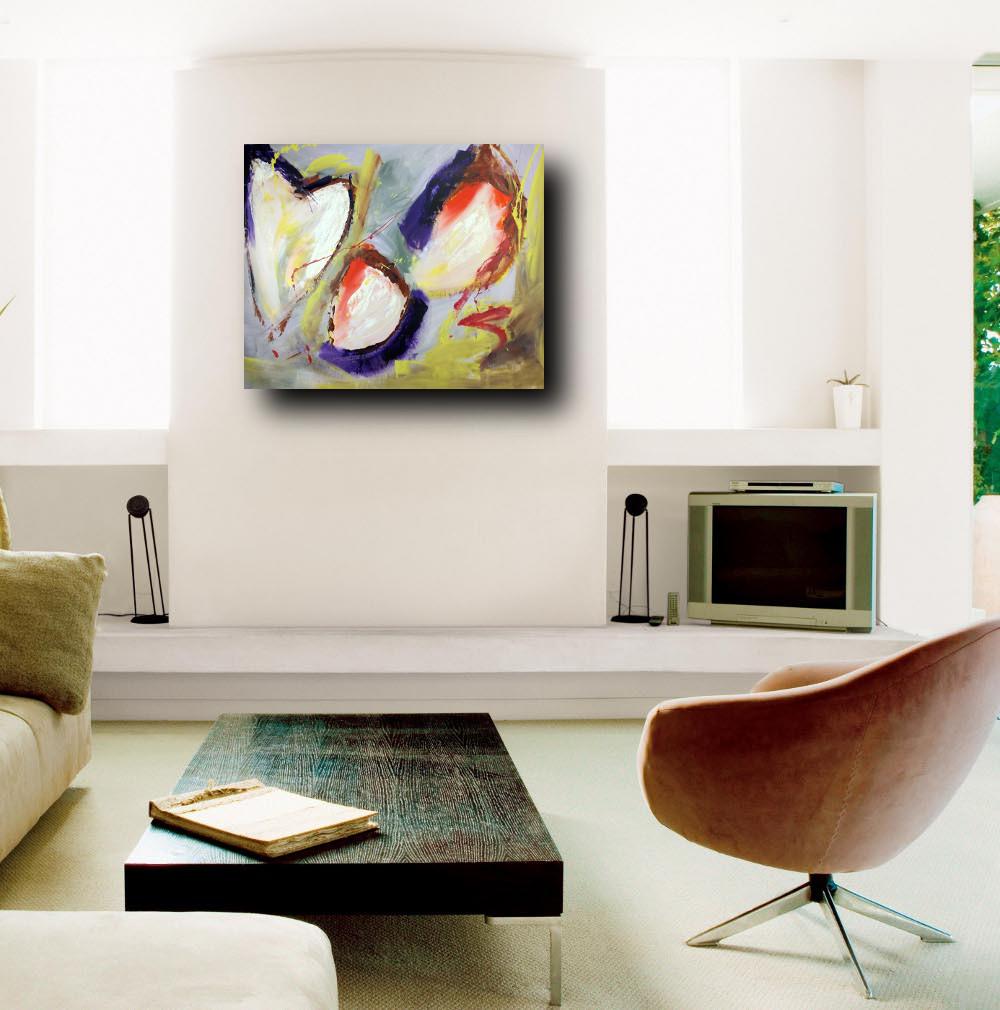 Quadri astratti per soggiorno moderno su tela 100x80 for Quadri su tela astratti