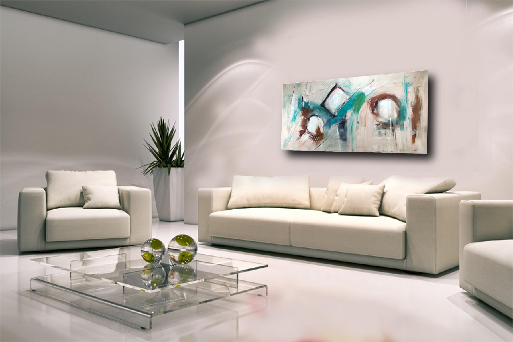 quadri moderni astratti su tela 150x80 | sauro bos