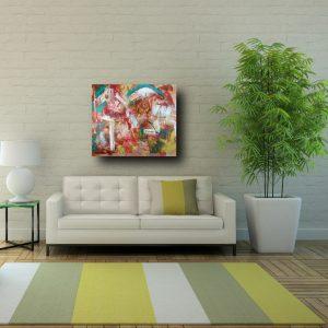 quadri atratti su tela c229 300x300 - quadro astratto dipinto a mano su tela con cornice oro 120x70