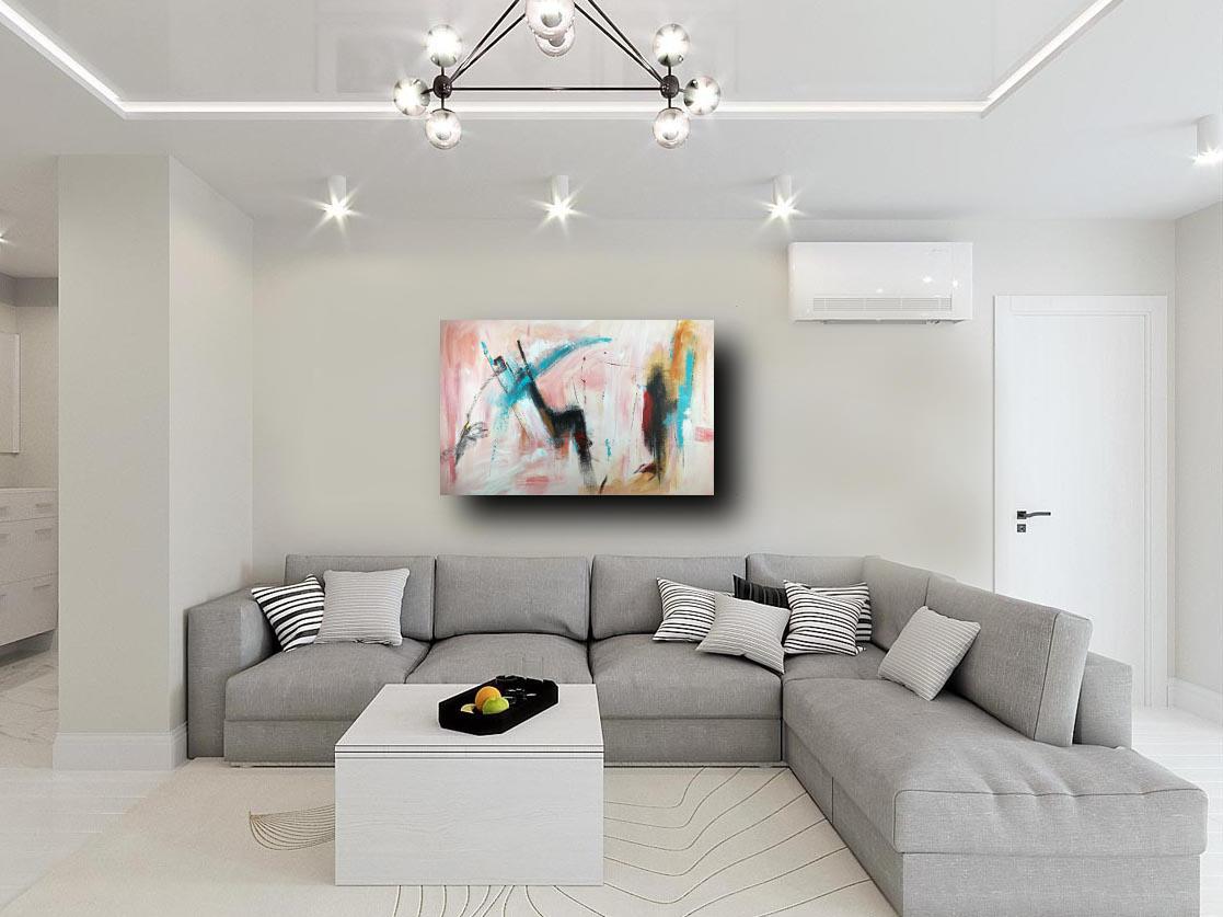 quadro grande astratto su tela 120x80 per arredamento