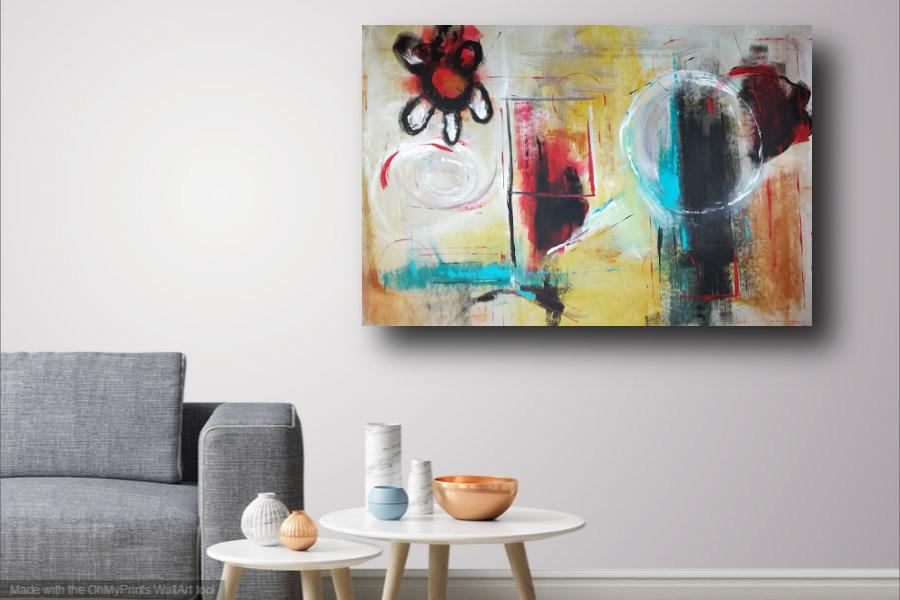 dipinto grande astratto su tela 120x80 per arredamento moderno cucina  soggiorno