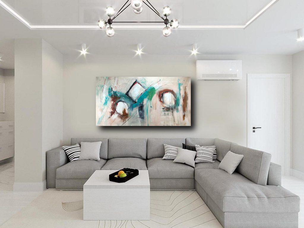 quadri astratti moderni per il soggiorno di casa sauro bos