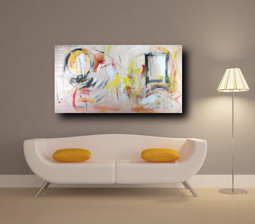 Quadri per soggiorno astratti su tela 150x80 sauro bos - Ikea quadri su tela ...