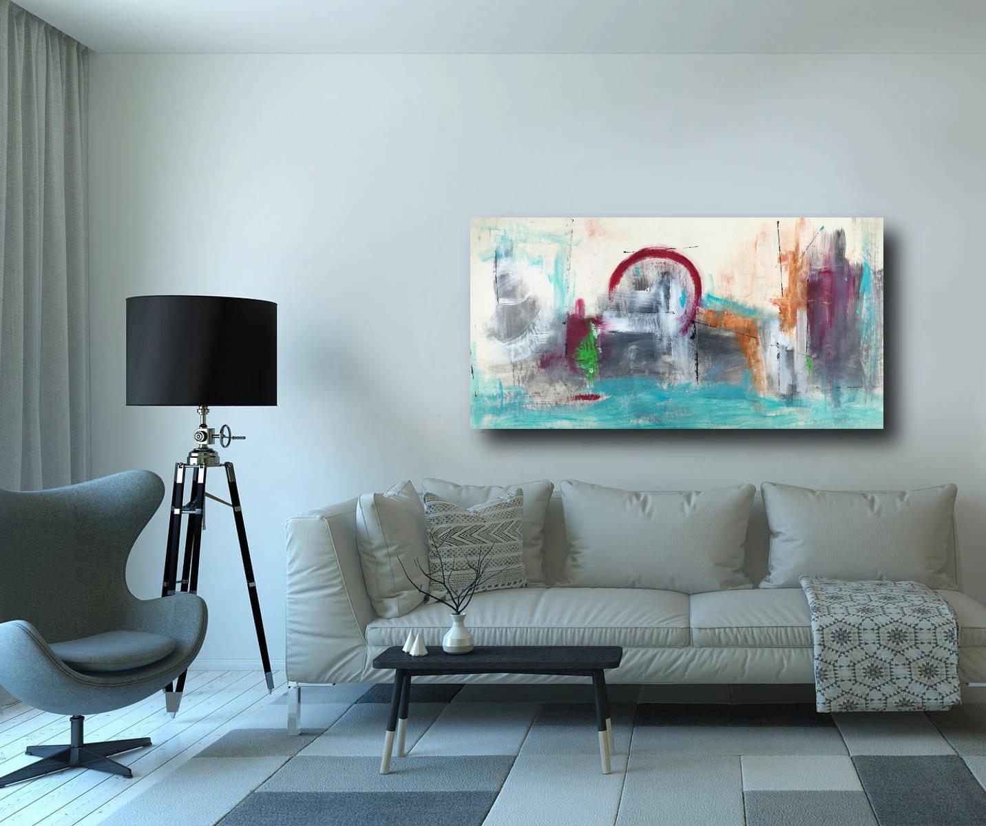 quadri astratti per soggiorno moderno 120x60 | sauro bos