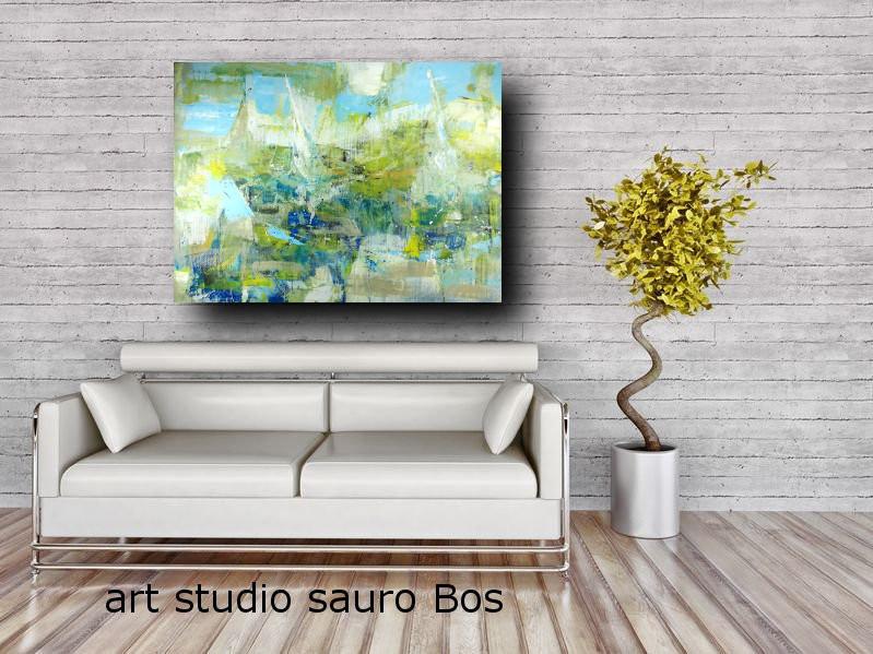 quadro grande astratto su tela 120x80 per arredamento soggiorno ...