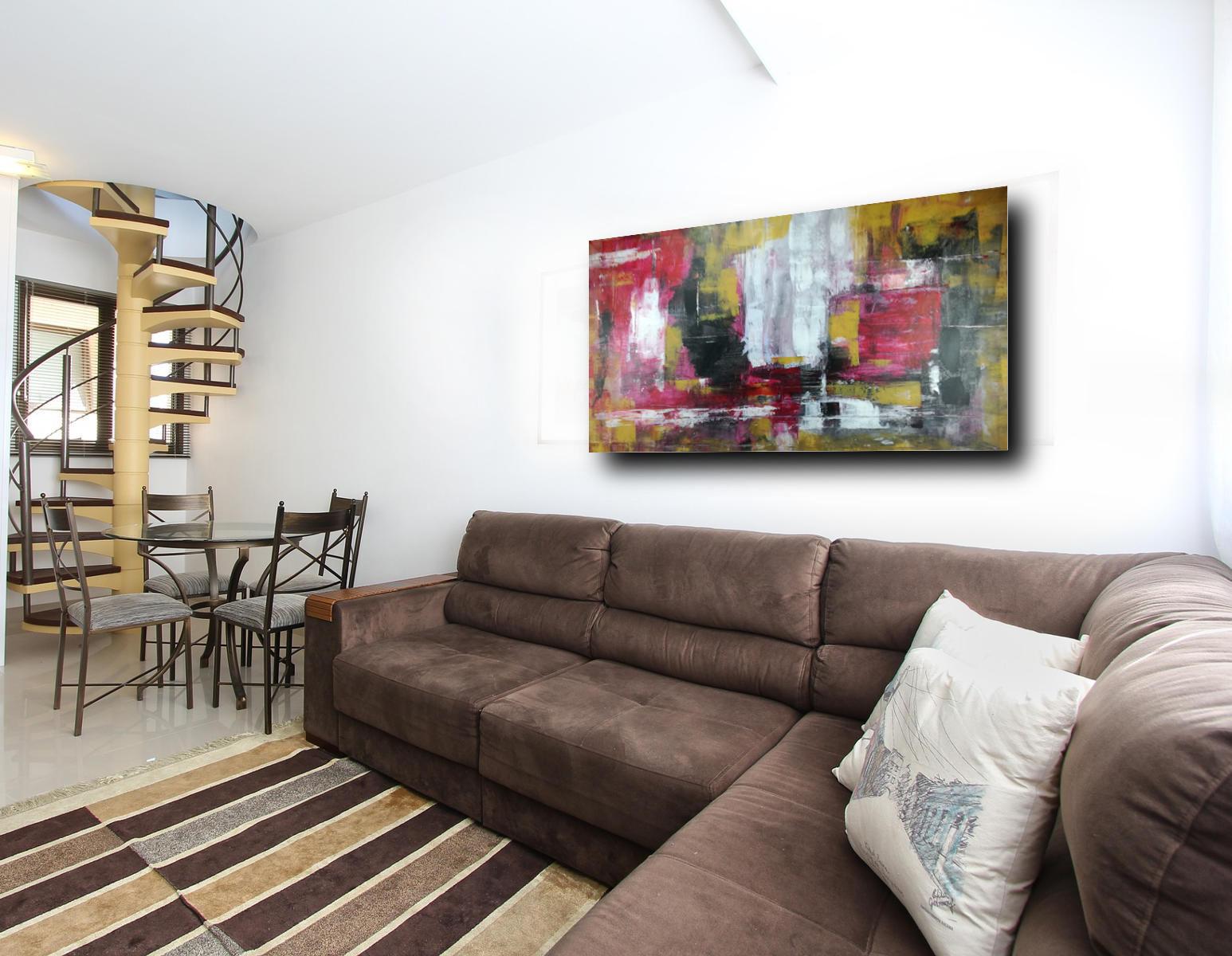 quadri olio su tela per soggiorno astratti 150x80 | sauro bos