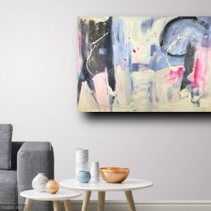 quadri astratti soggiorno c260 300x300 - quadro fatto a mano su tela con cornice argento 120x70