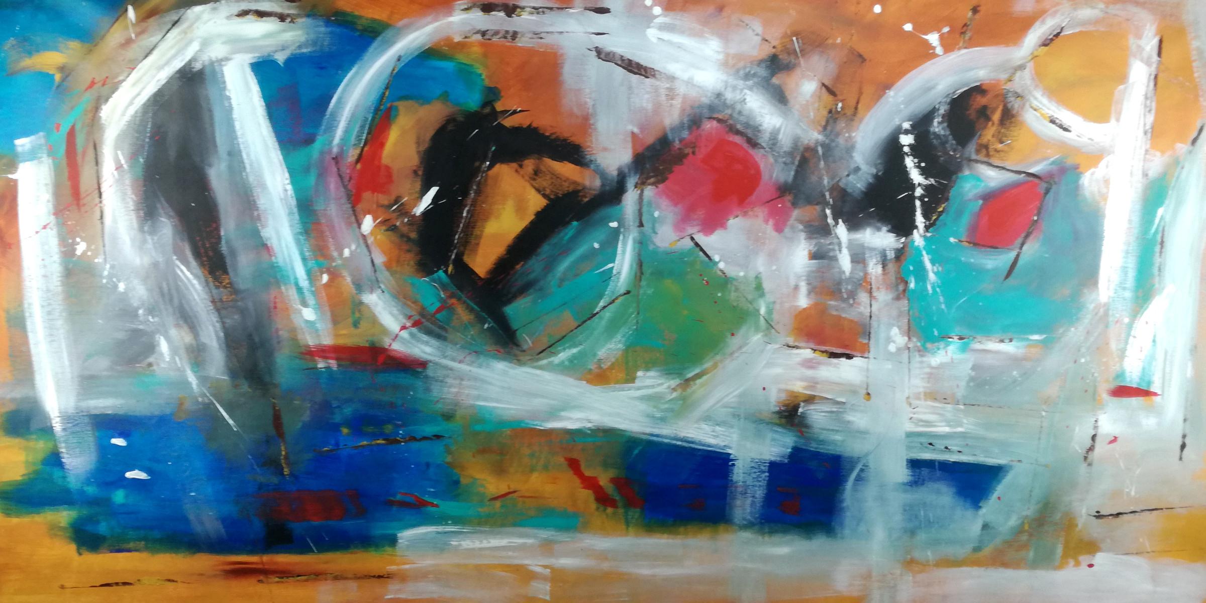 quadri astratti grandi su tela 200x100 | sauro bos