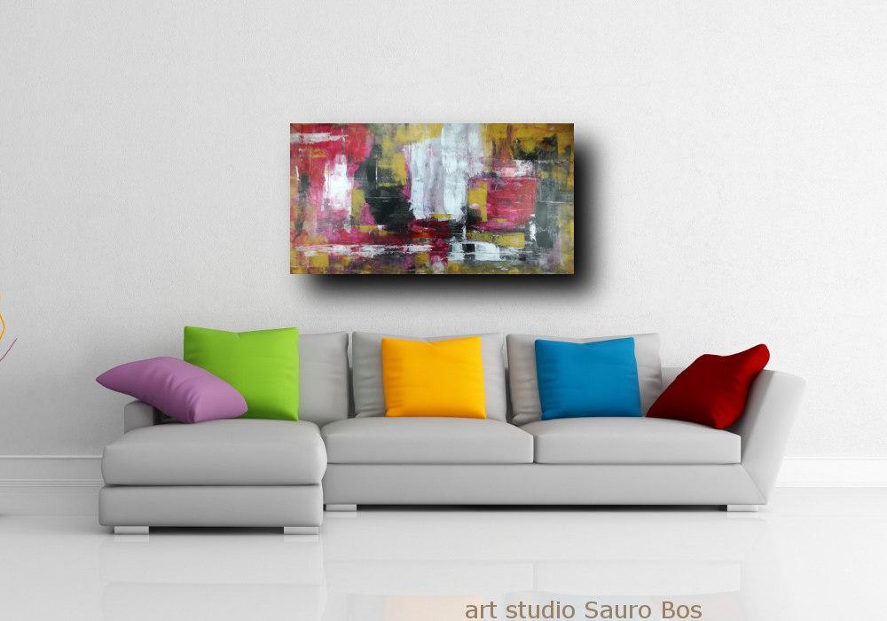 quadri astratti su tela grandi c266 - quadri moderni per salotto