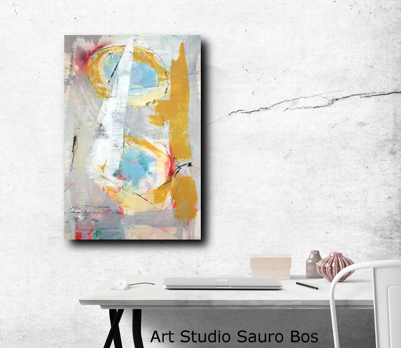 dipinti moderni geometrici su tela 80x60 | sauro bos