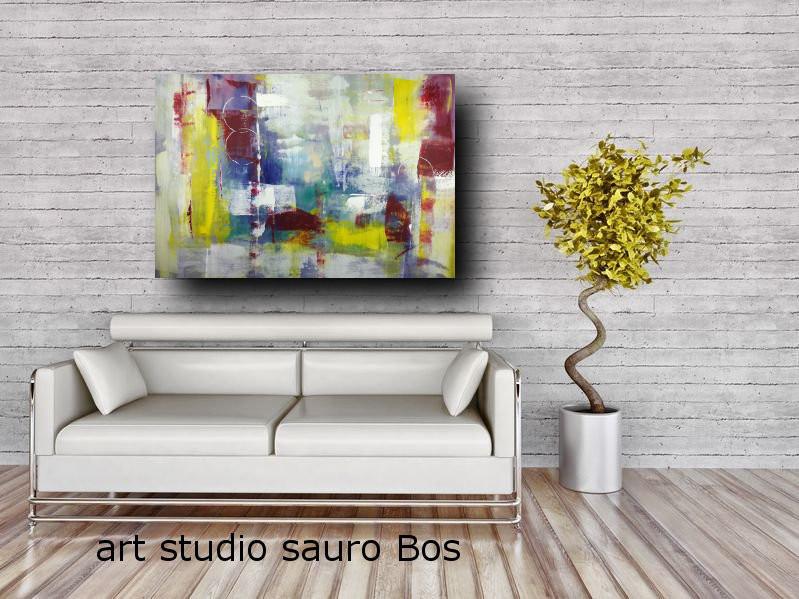 quadri colorati su tela ad olio c267 - quadri moderni per salotto