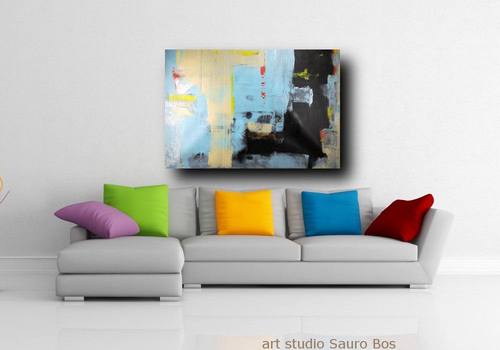 quadro grande astratto su tela 120x80 per arredamento moderno