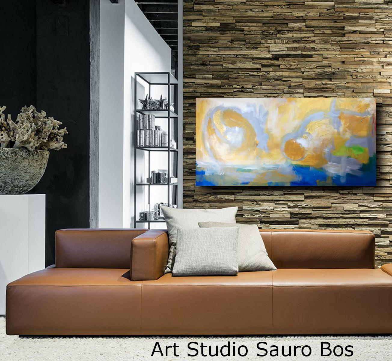 Quadri Moderni Paesaggio Grandi Dimensioni 180x90 Sauro Bos