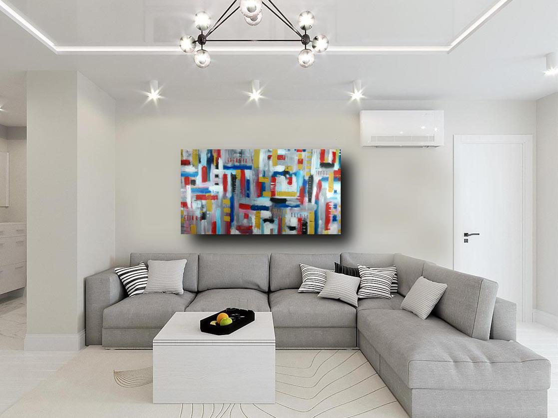Quadri astratti grandi dimensioni 180x90 per soggiorno for Quadri per soggiorni moderni