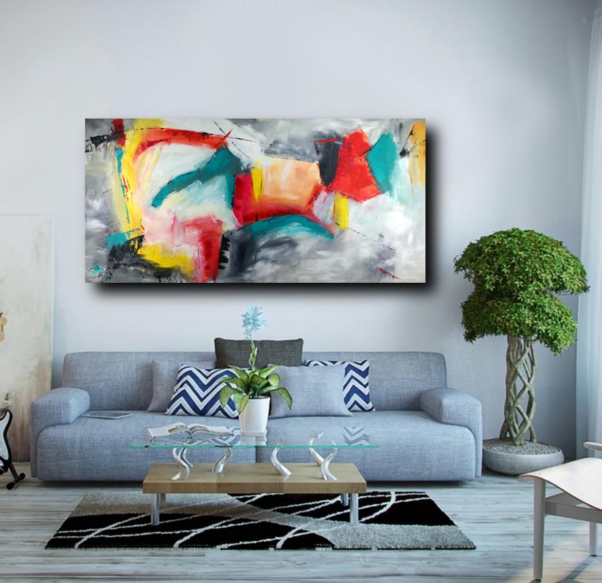 Quadri grandi astratti su tela 200x100 sauro bos for Quadri moderni astratti dipinti mano