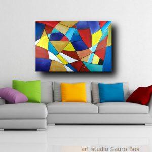 dipinti geometrici su tela c301 300x300 - quadro astratto dipinto a mano su tela con cornice oro 120x70