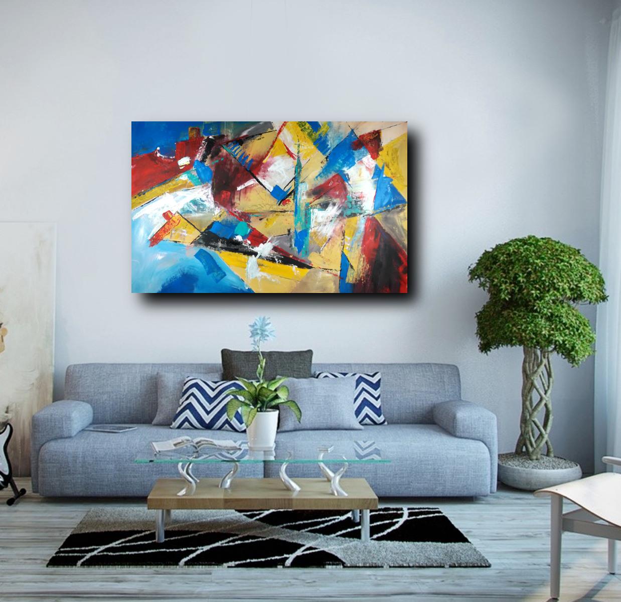 dipinto grande su tela 120x80 per arredamento moderno ...