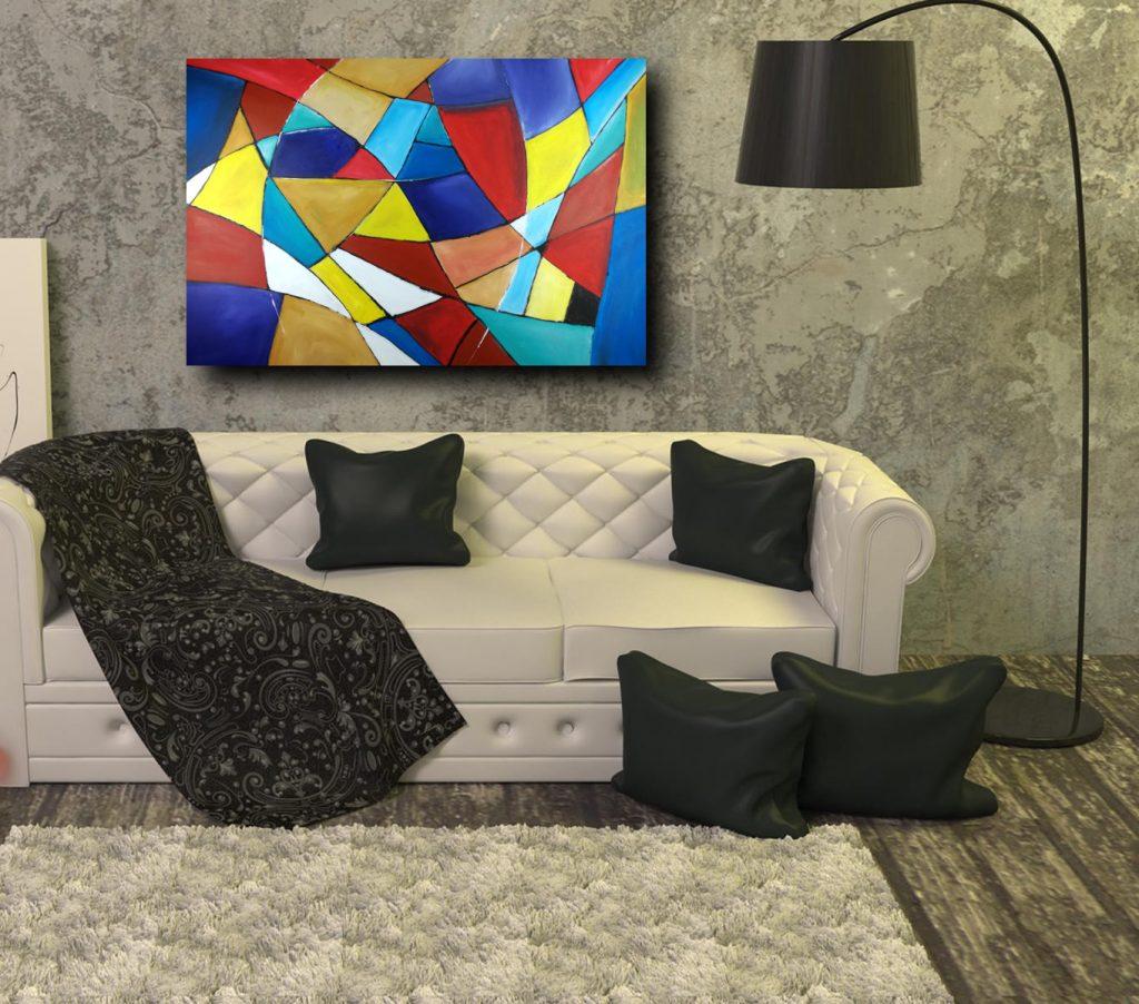 quadri astratti geometrici su tela 1024x902 - quadri moderni per salotto