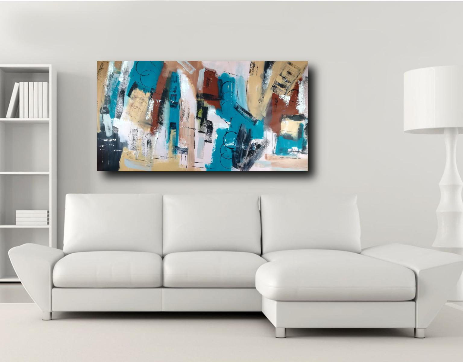 quadri astratti grandi c364 - quadri moderni per arredamento soggiorno