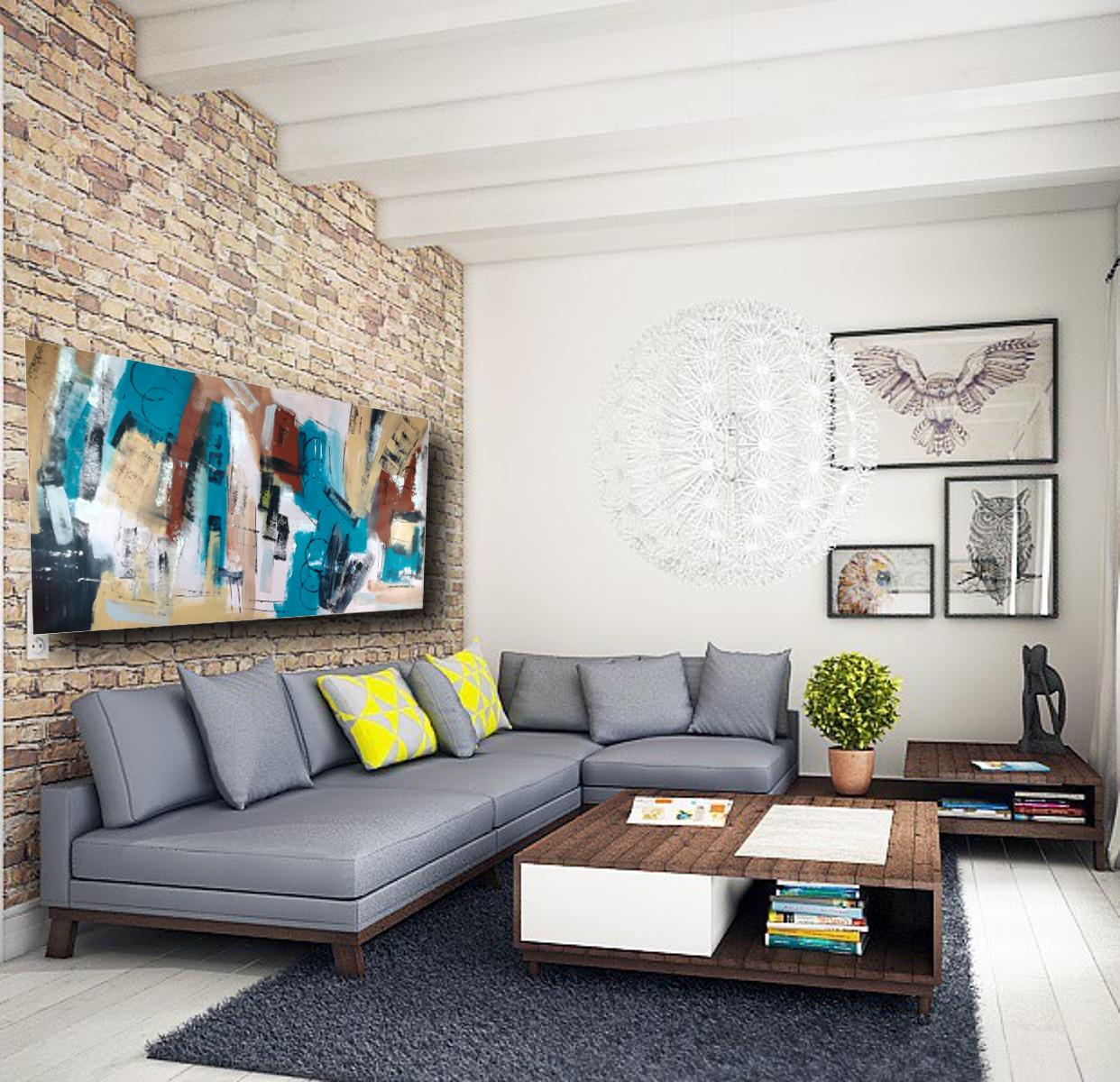 Quadri per salotto grandi dimensioni 180x90 astratto for Quadri per salotto moderno