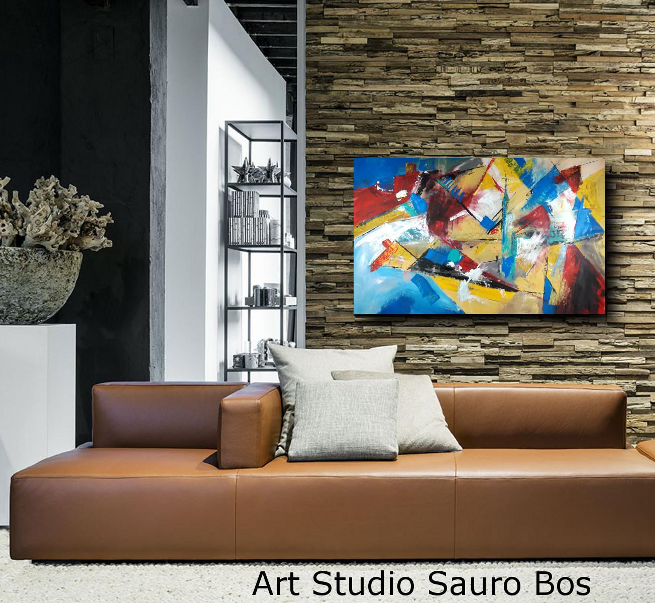 Dipinto grande su tela 120x80 per arredamento moderno for Quadri per pareti