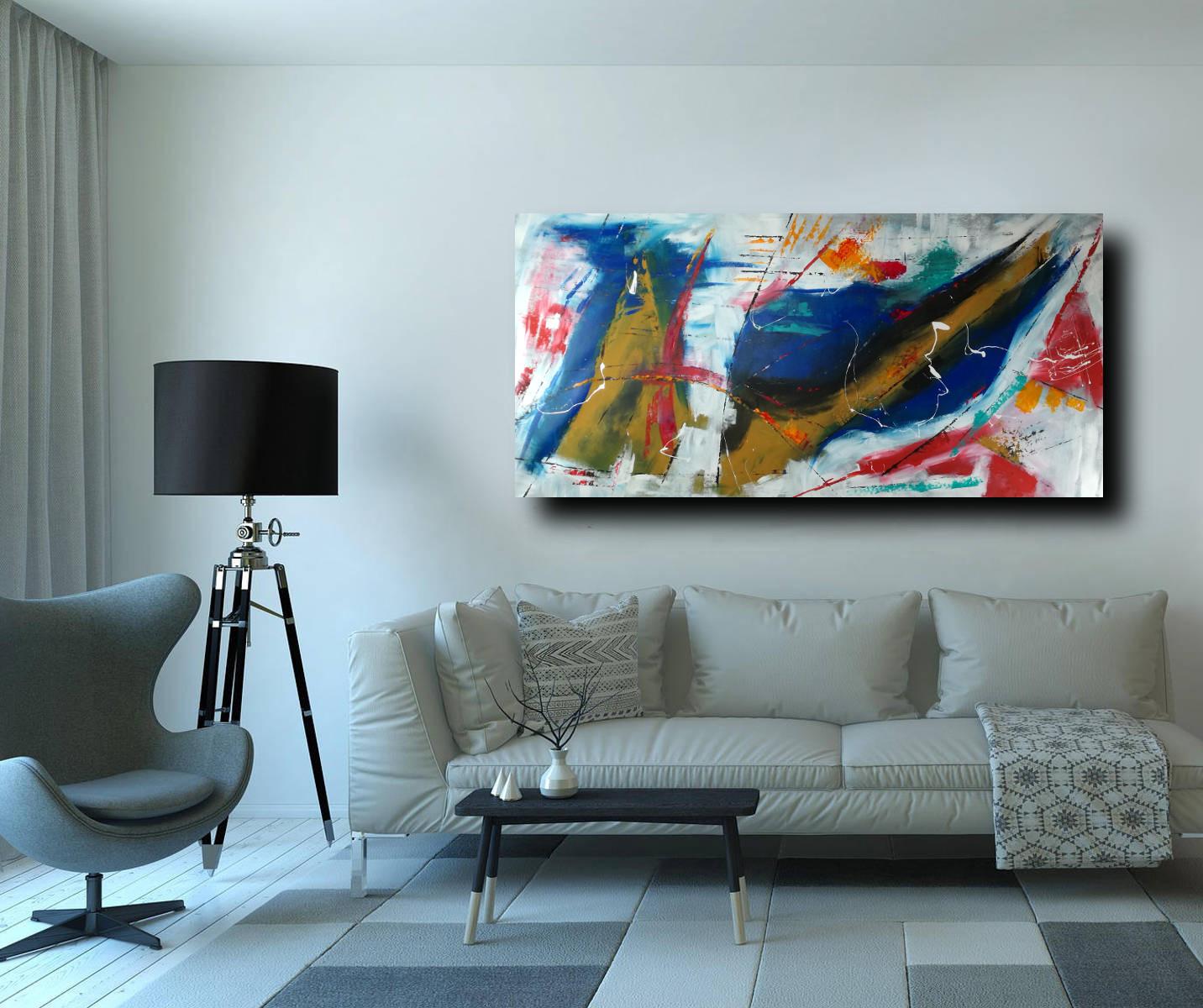 quadri grandi astratti su tela 200x100 geometrico | sauro bos