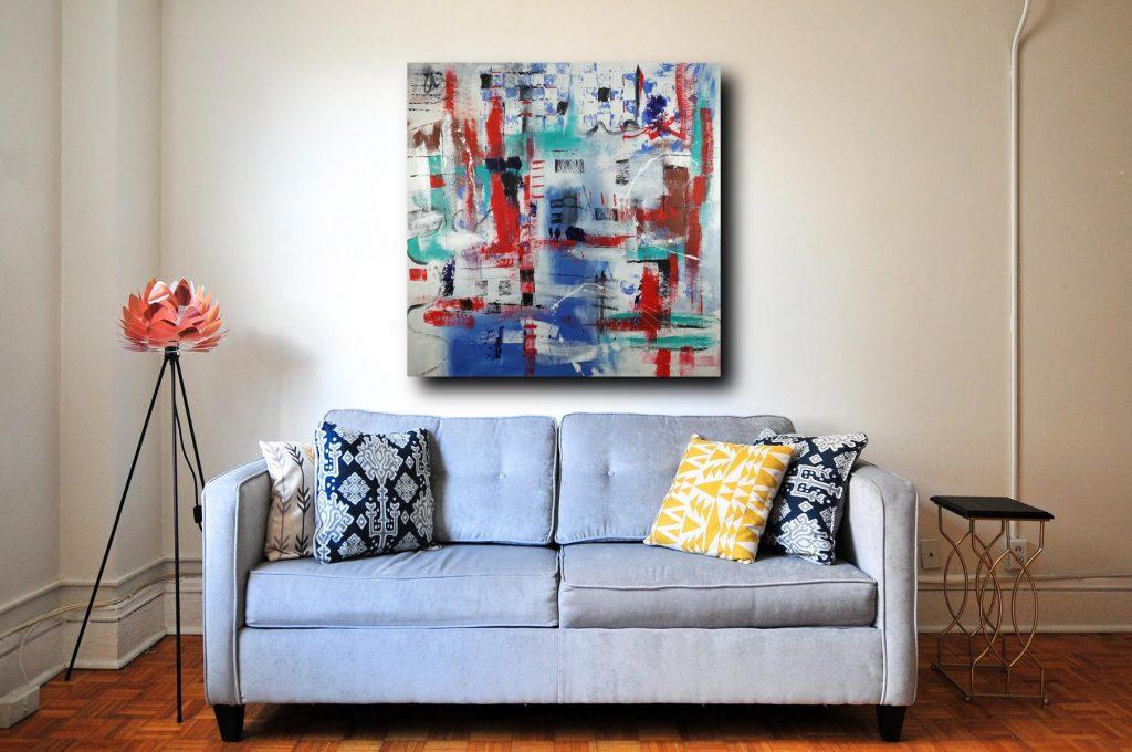 quadri astratti su tela dipinto a manoc301 1024x680 - quadri moderni per salotto