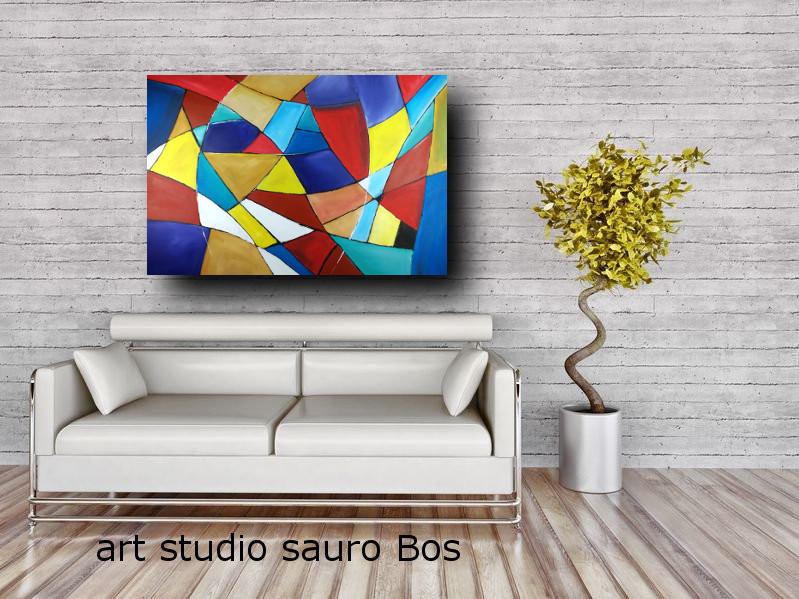 quadri astratti su tela geometric c301 - quadri astratti moderni per il soggiorno di casa