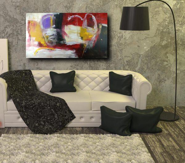 quadri colorati astratti c297 600x528 - dipinto a mano astratto olio su tela 150x80
