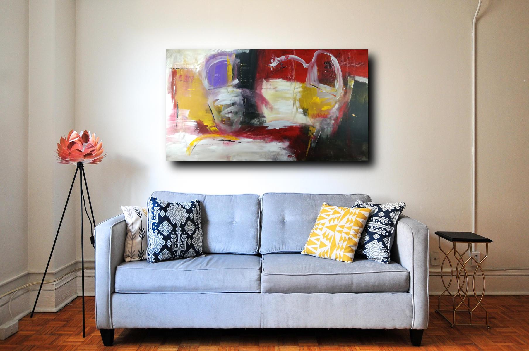 Dipinto a mano astratto olio su tela 150x80 sauro bos for Quadri dipinti a mano paesaggi