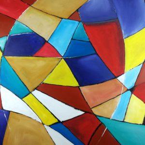quadri geometrici c301 300x300 - quadro astratto dipinto a mano su tela con cornice oro 120x70