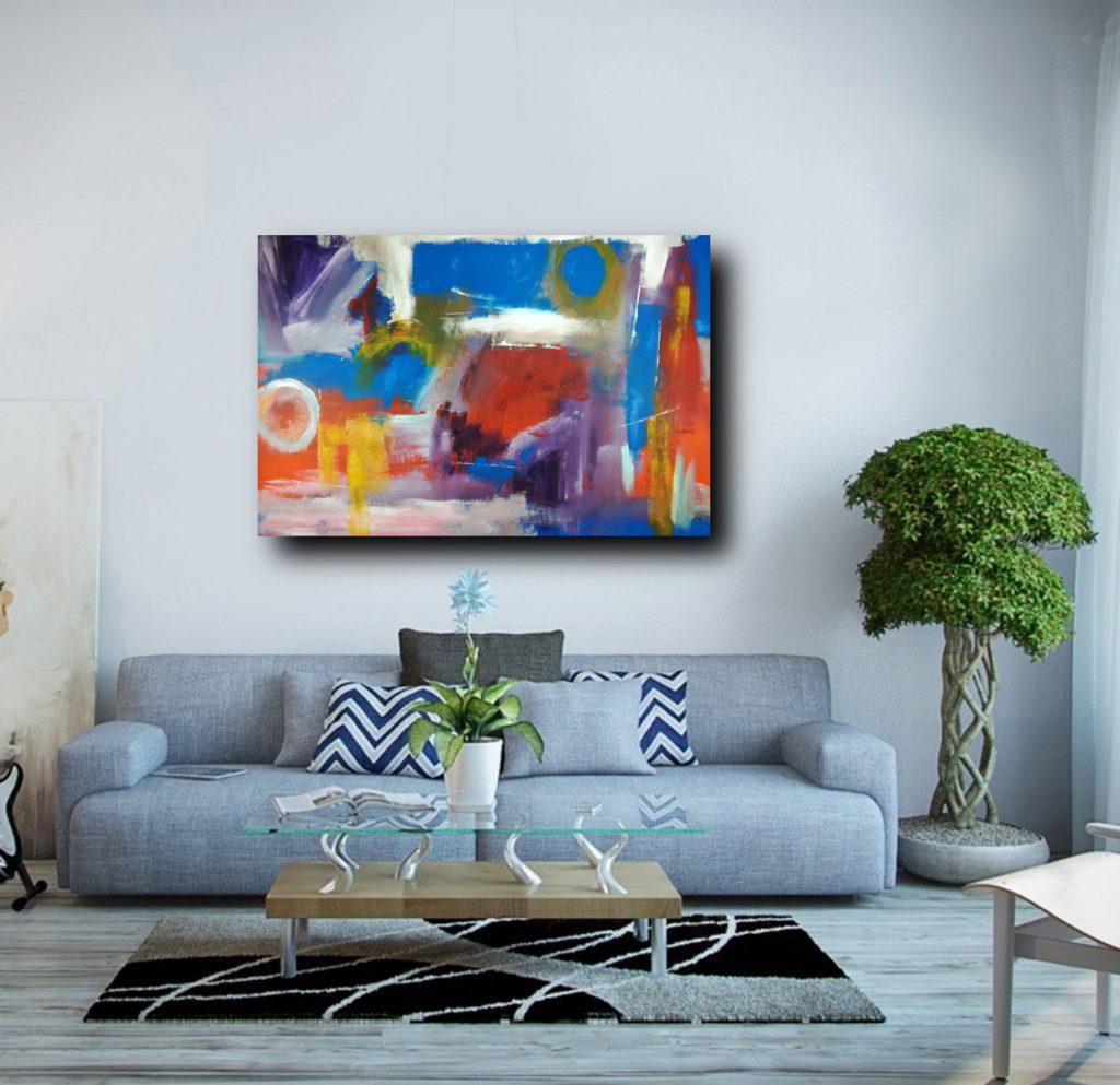 quadri grandi astratti fatti a mano c299 1024x993 - quadri moderni per salotto