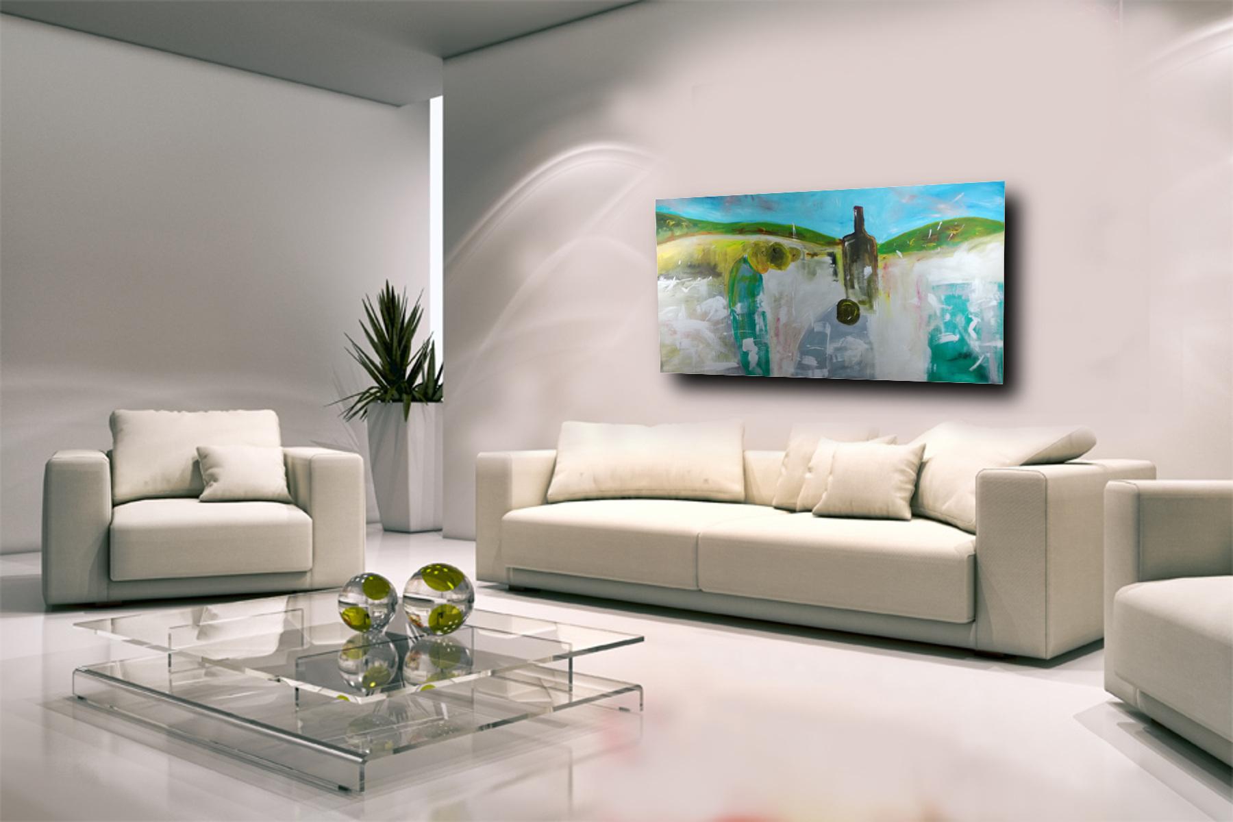 Dipinto natura morta grandi dimensioni 180x90 per for Quadri particolari per arredamento