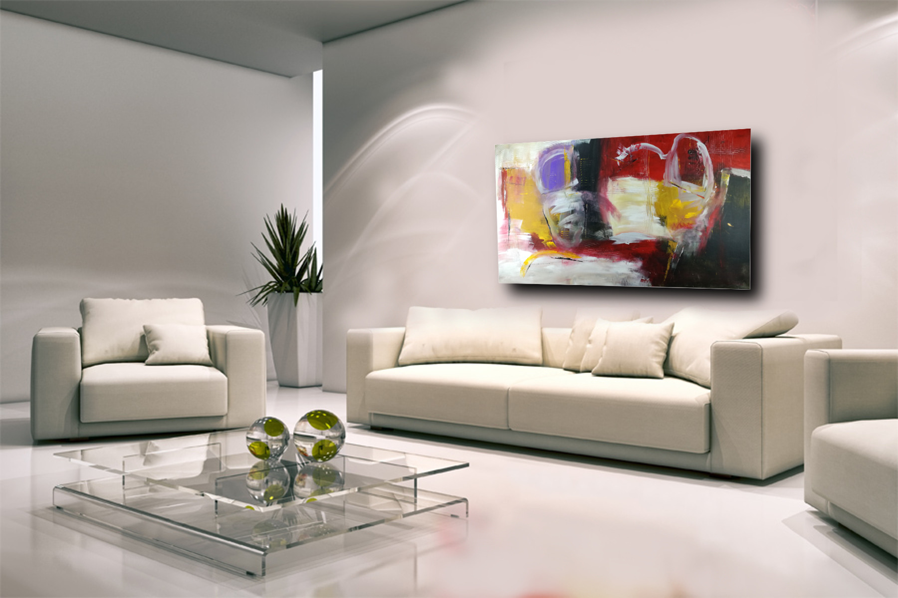 dipinto a mano astratto olio su tela 150x80 | sauro bos