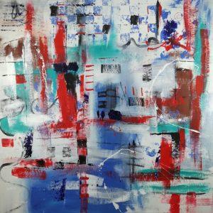 quadro astratto c292 300x300 - dipinti  grandi su tela 120x120 arredare in modo moderno