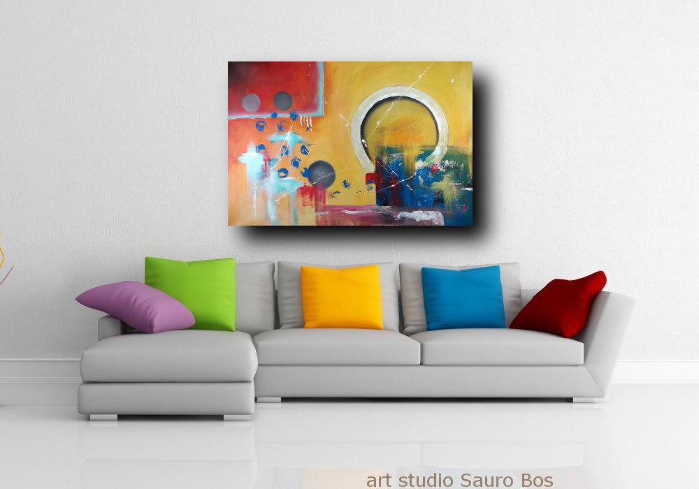 dipinti geometrici su tela c303 - quadri moderni per salotto