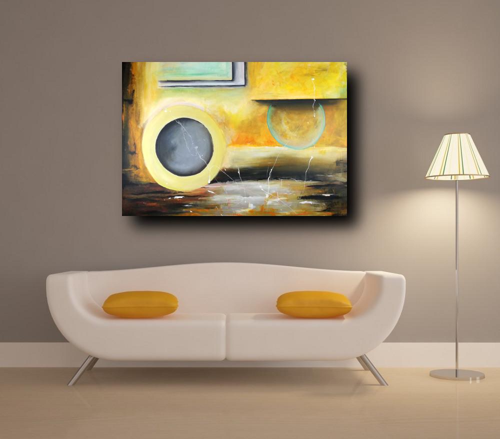 quadri moderni su tela c302 - quadro grande su tela astratto 120x80