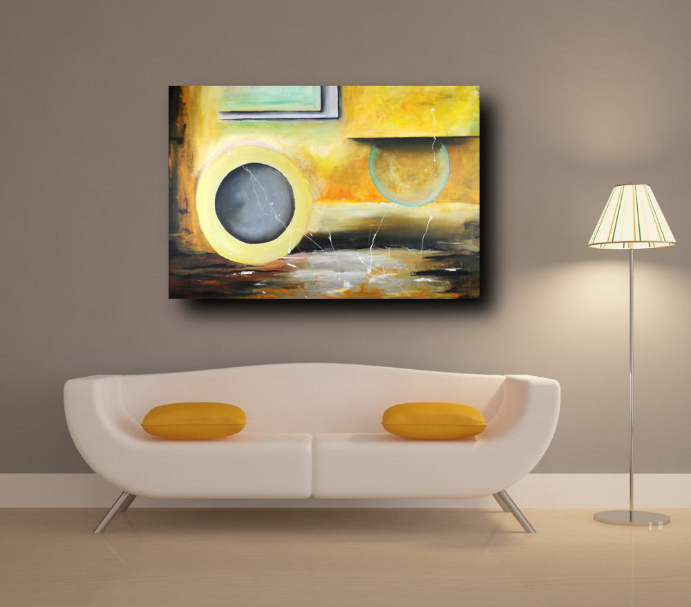 quadri moderni su tela c302 - dipinto su tela per casa moderna 120x80