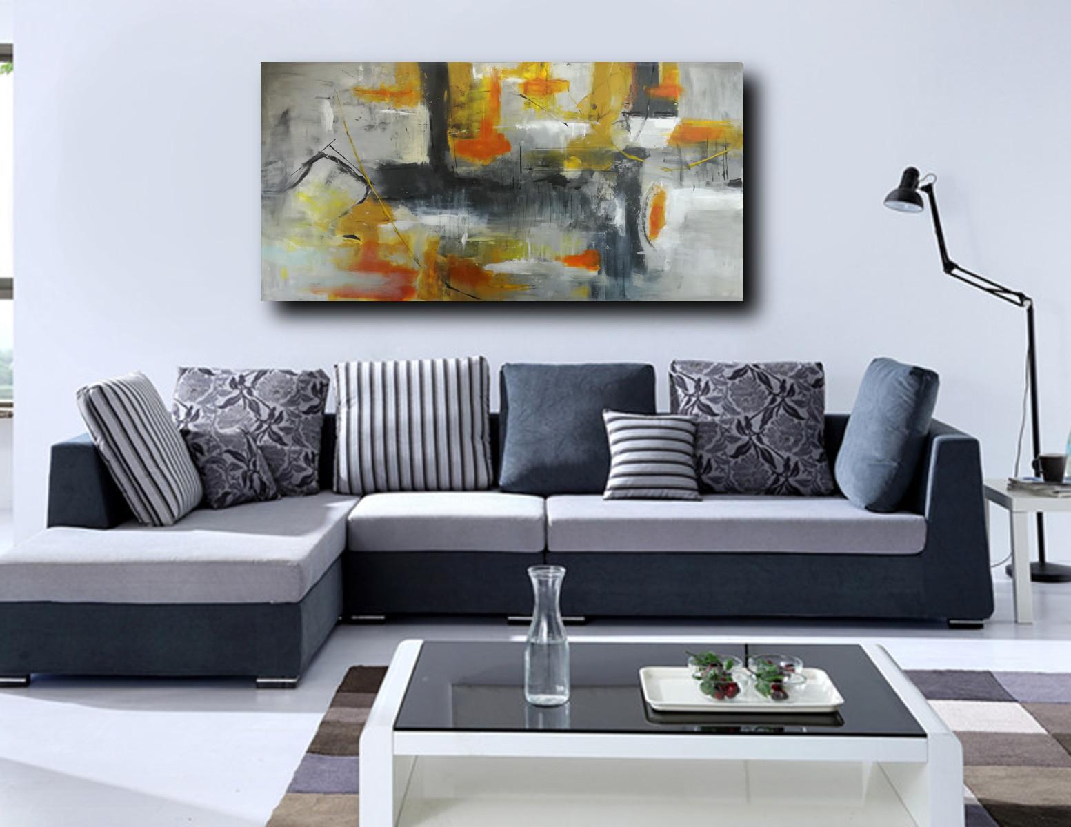 Quadri per salotto grandi dimensioni 180x90 sauro bos for Quadri per salotto moderno
